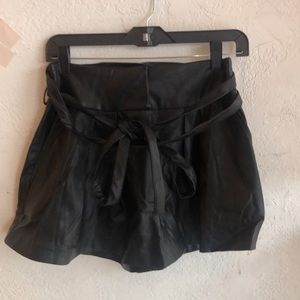 Nasty Gal pleather high waisted shorts